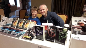Indy and author Paul Anthony Shortt at the dealer's table!