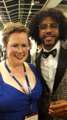 Famous Author CE Murphy with Famous Rapper Daveed Diggs
