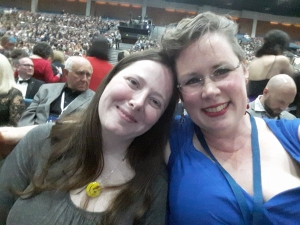 Worldcon roomies at the Hugos!!