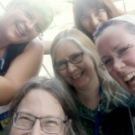 Mihaela, Sharpie, Kari, Catie & Phil at Worldcon!