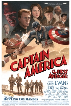 Captain America: The First Avenger vingage-style movie poster by Paolo Rivera