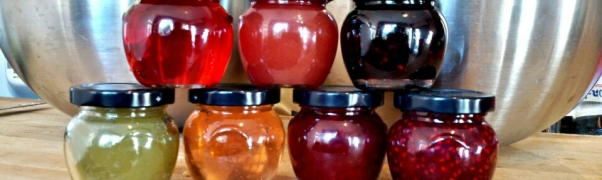 crabapple jelly & jam, blackberry jam / apple jam & jelly, strawberry jam, raspberry jam